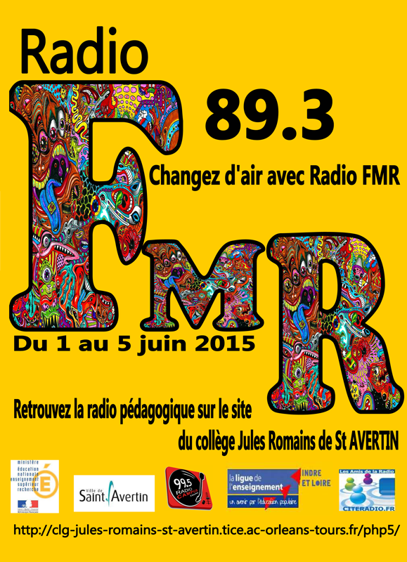affiche radio FMR saint avertin 2015